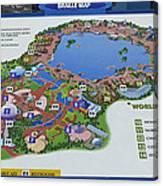 Future World Map Walt Disney World Digital Art Metal Print