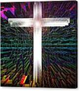 Futuristic Cross Pattern Canvas Print