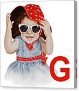 G Art Alphabet For Kids Room Canvas Print