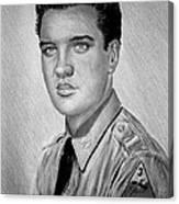 G I Elvis  Canvas Print