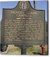 Ga-005-16 Provost Guard Campsite Canvas Print