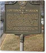 Ga-005-1b Old Governors Mansion Canvas Print