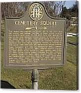 Ga-005-28 Cemetery Square Canvas Print