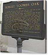 Ga-029-15 Robert Toombs Oak Canvas Print