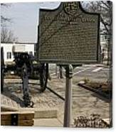 Ga-029-5 The Athens Double-barrelled Cannon Canvas Print