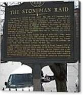 Ga-029-6 The Stoneman Raid Canvas Print