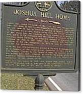 Ga-104-1 Joshua Hill Home Canvas Print