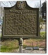 Ga-97-1 Madison County Canvas Print