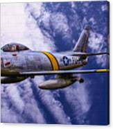 Gabby's F-86e Canvas Print
