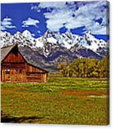 Gable Roof Barn Panorama Canvas Print