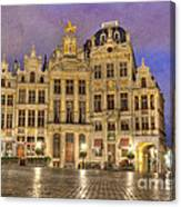 Gabled Buildings In Grand Place Canvas Print