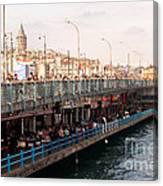 Galata Skyline And Bridge 02 Canvas Print
