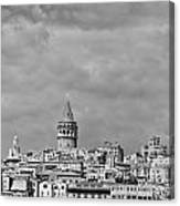 Galata Tower Mono Canvas Print