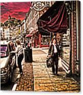 Galena Illinois Happy Shopper Canvas Print