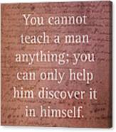 Galileo Quote Science Astronomy Math Physics Inspirational Words On Canvas Canvas Print