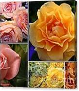 Beautiful Roses- A Collage Canvas Print