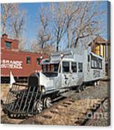 Galloping Goose 7 In The Colorado Railroad Museum Canvas Print