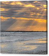 Galveston Rays Of Sunshine Canvas Print