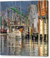 Galveston Shrimp Boats Canvas Print