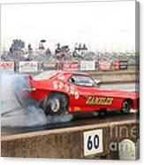 Gambler Burns The Track Canvas Print
