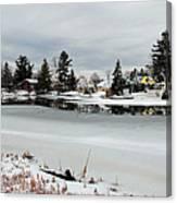Gananoque River In Winter 4 Canvas Print