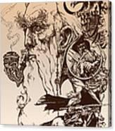 gandalf- Tolkien appreciation Canvas Print