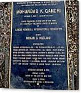 Gandhi Plaque Canvas Print