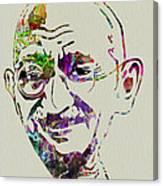 Gandhi Watercolor Canvas Print