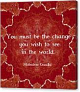 Gandhi Wisdom Saying About Action Canvas Print