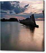 Gandy Wall At Sunset II Canvas Print