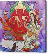 Ganesha  Laksami Canvas Print