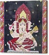 Ganesha The Hindu God Canvas Print