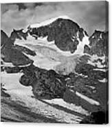 509427-bw-gannett Peak And Gooseneck Glacier, Wind Rivers Canvas Print