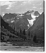 509417-bw-gannett Peak Seen From Dinwoody Creek Canvas Print