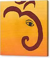 Ganpati- Om Canvas Print