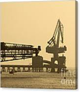Gantry Crane In Port Canvas Print
