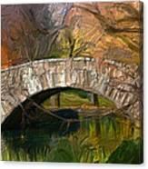 Gapstow Bridge In Central Park Canvas Print