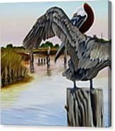 Gar Lake Pelican 2 Canvas Print