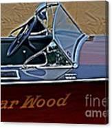 Gar Wood Boat Canvas Print