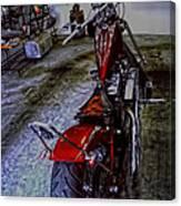 Garage Kept Chopper Canvas Print