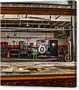 Garage Window Canvas Print