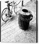 Garbage Bike  Canvas Print