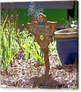Garden Angel Canvas Print