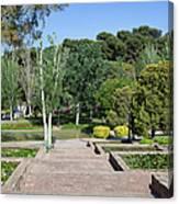 Garden At Montjuic In Barcelona Canvas Print