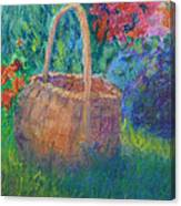 Garden Basket Canvas Print