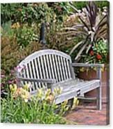 Garden Benches 3 Canvas Print