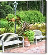 Garden Benches 7 Canvas Print