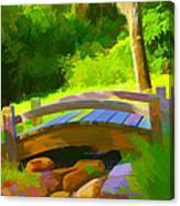 Garden Bridge Canvas Print