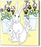 Garden Bunnies Canvas Print