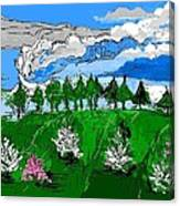 Garden Clouds Canvas Print